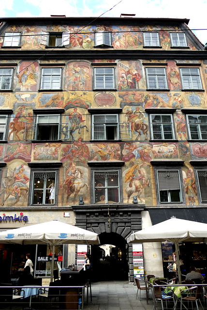 Gemaltes Haus, Herrengasse, Graz 格拉茨 海倫街 繪畫房屋