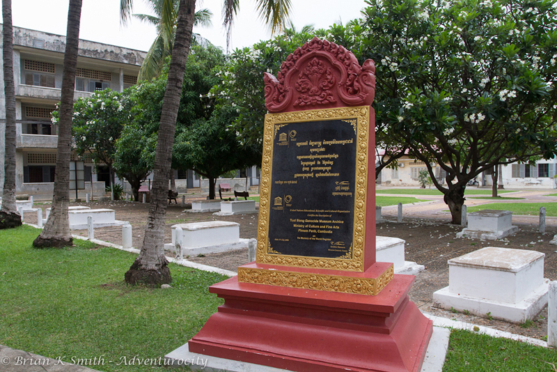 UNESCO Memory of the World Register marker at Tuol Sleng