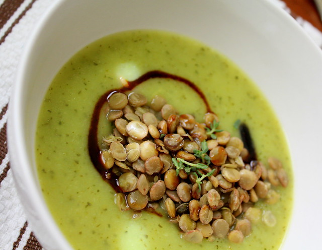 zucchini soup with lentils