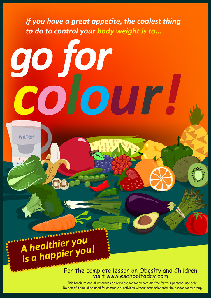 fruits-and-vegetables-say-no-to-obesity-poster