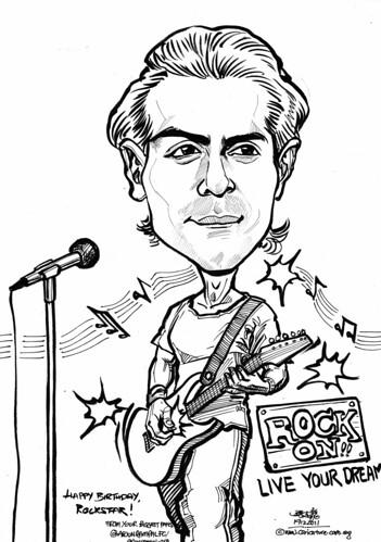Arjun Rampal rockstar caricature