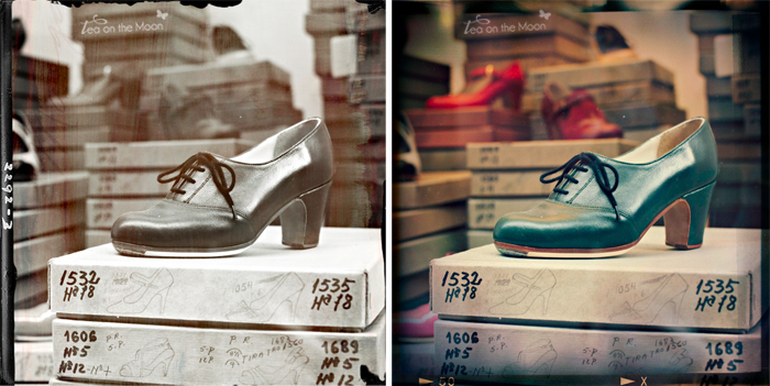 zapatos cuadrado