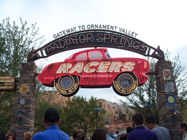 The entrance to Radiator Springs Racers.