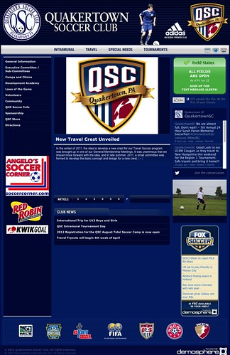 Quakertown Soccer Club Website