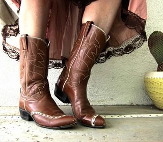 Vintage Tony Lama Cowboy Boots Ladies