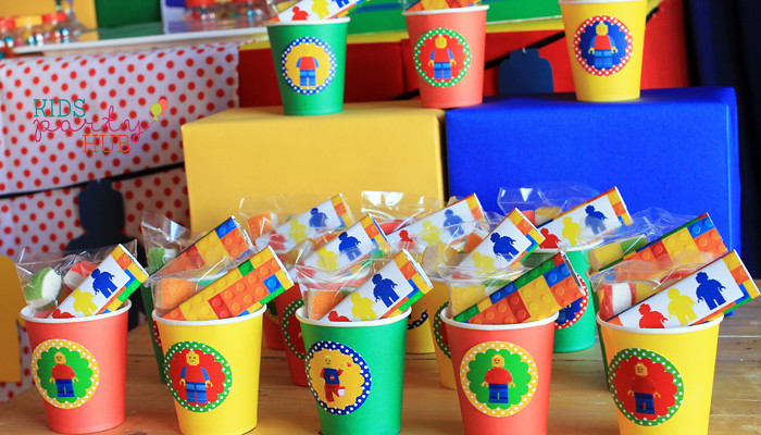 Lego Themed Party Favors