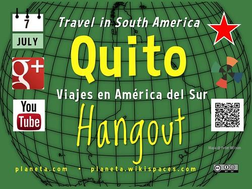 Quito Google+ Hangout @pgaybor @ecabanilla #rtcities