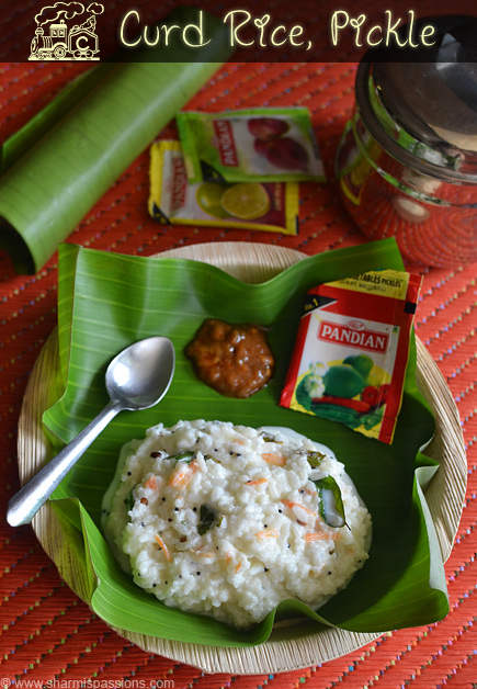 Curd Rice, Pickle