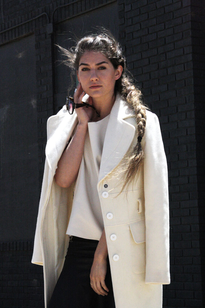 Fringe of the CRO | Minimalistic white overcoat