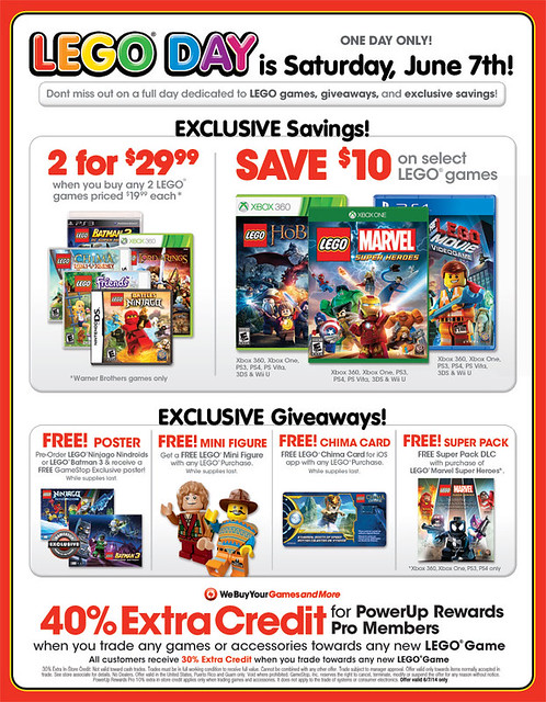 Gamestop LEGO Day Sale