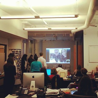 Skyping to the #costarica @newfuturo office...