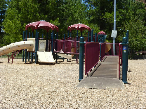 Wheelchair-accessible playground