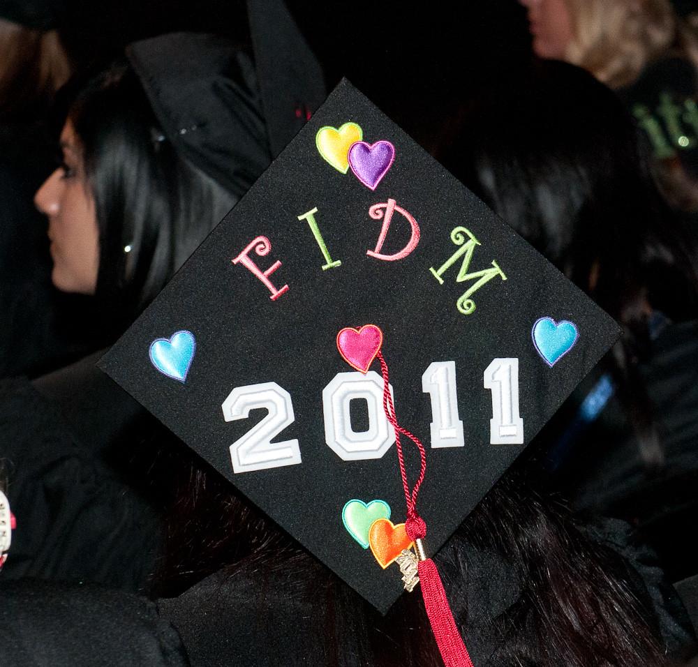 Fidm 2011 Graduation Decorated Mortar Boards Staples C Flickr