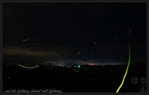 storm yellow night clouds dance curves bolt strike lightning streaks thunder fireflies lightningbugs noct