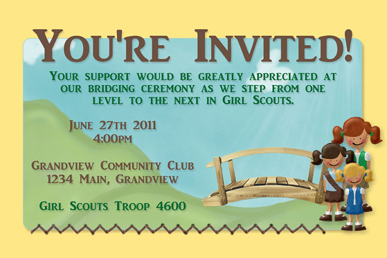 Girl Scouts Bridging Ceremony Invitation | Flickr - Photo ...