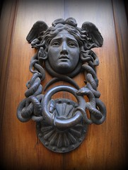 carving, art, temple, sculpture, door knocker,