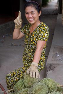 Durian Delivery Woman, Mekong Delta, Vietnam