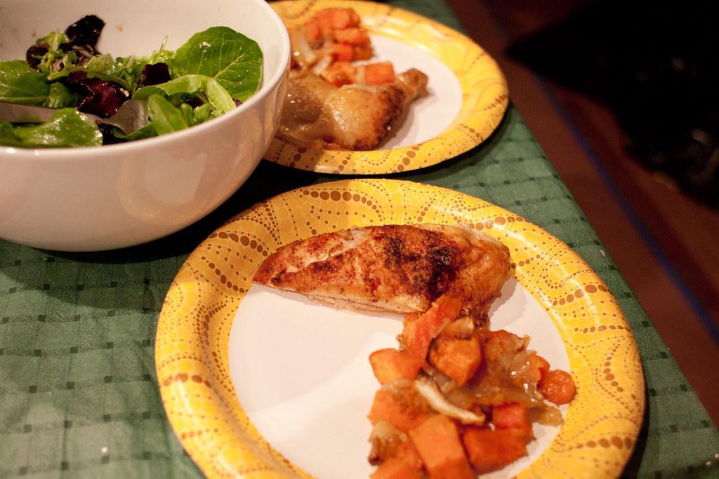 paper plate dinner