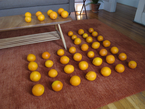 45 Oranges on Two Planes