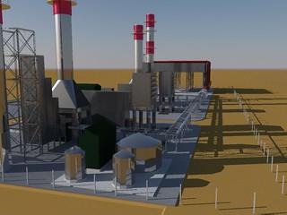 Maqueta de la futura planta de Cerro Dragón.