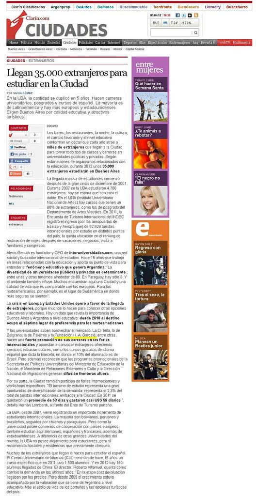 Site Diario Clarín 03-04-12