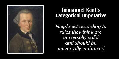 categorical imperative described by immanuel kant Study guide: immanuel kant (1724 – 1804) the categorical imperative: an imperative is a statement that tells one how to behave a hypothetical imperative is.
