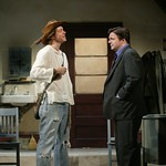 Austin Lysy as Mr. Gardner and Nathan Lane as Butley in the Huntington Theatre Company's production of Simon Gray's