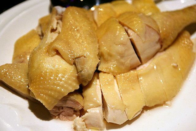 Steamed Kampong Chicken in Canton Style