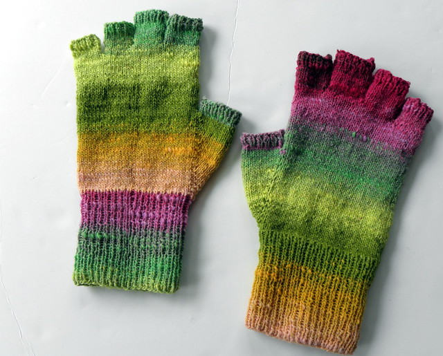 Fingerless gloves in Noro Sock Flickr - Photo Sharing!
