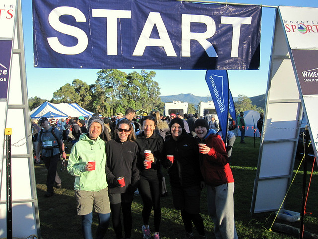 'Just us' at the start of Wildendurance 2012