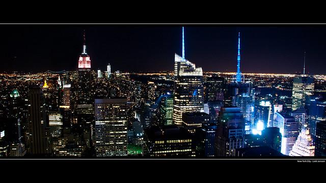 Nyc skyline manhattan night wallpaper desktop background 1920 x 1080 flickr photo sharing - Skyline night wallpaper ...