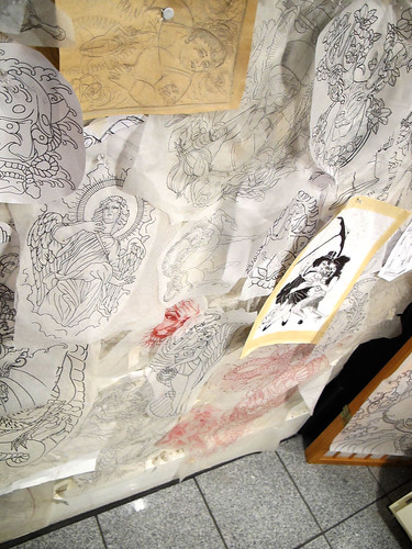 tattootracingpaperdrawingwall