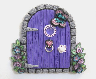 Purple Fairy Door Magnet