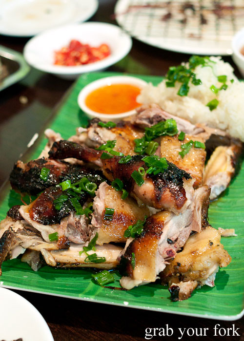 Charcoal grilled chicken at Hai Au Lang Nuong Canley Vale