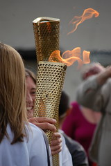 Olympic Torch coming through Penrith on Midsummers Eve 2012