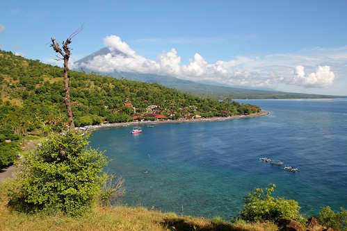 Amed with Gunung Agung - my favorite place in Bali!