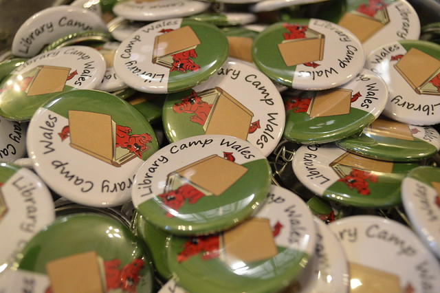 A picture of library camp wales badges