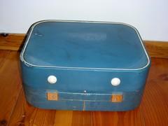 suitcase, blue,