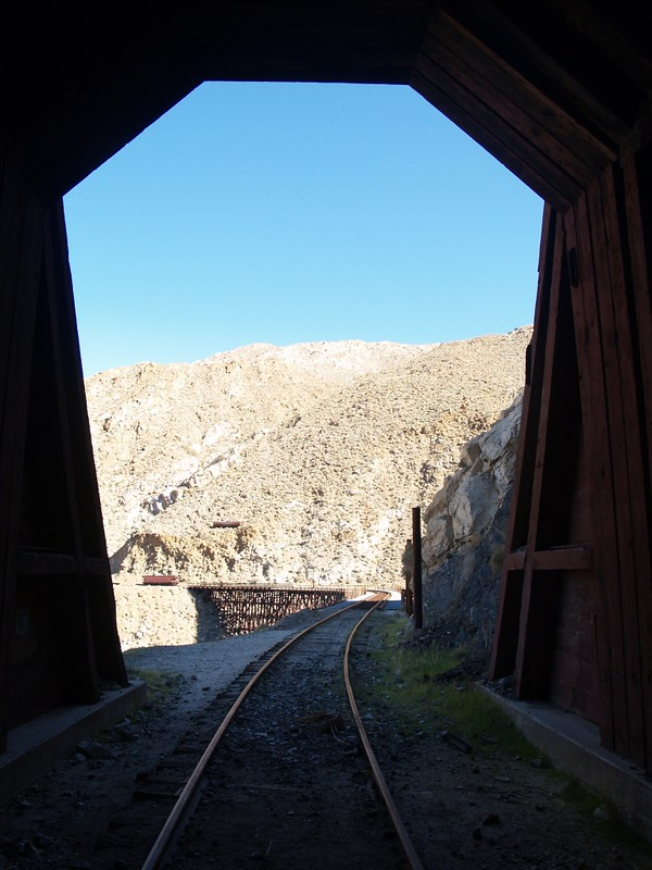 The Goat Canyon Trestle from Tunnel 15
