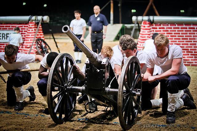 The british military tournament field gun run wellington college