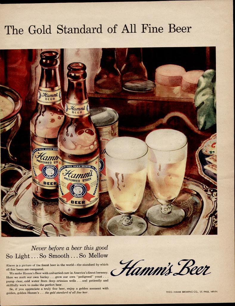 Hamms-1950-gold