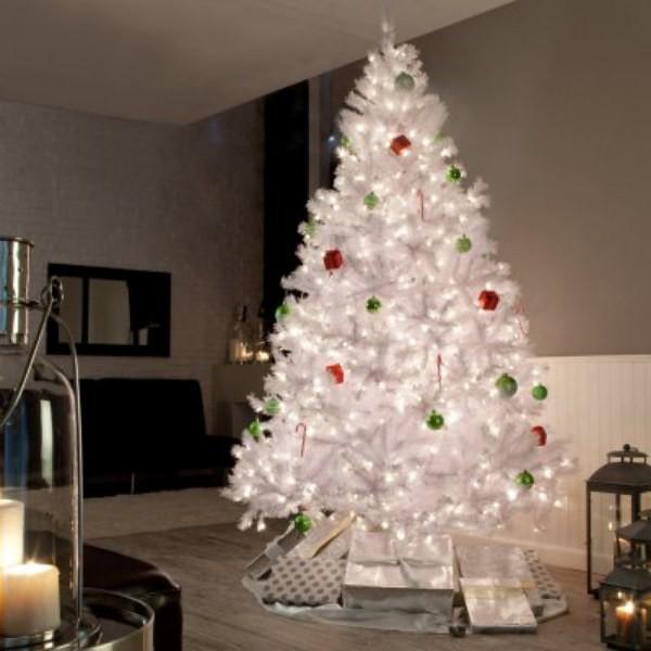 Rbol de navidad blanco iluminado flickr photo sharing - Arbol de navidad blanco ...