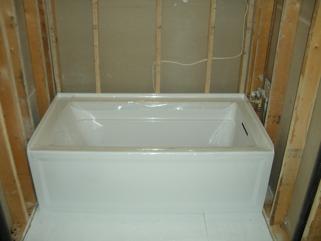 Installing Bathroom Tile Over Drywall : Drywall install alcove tub images frompo