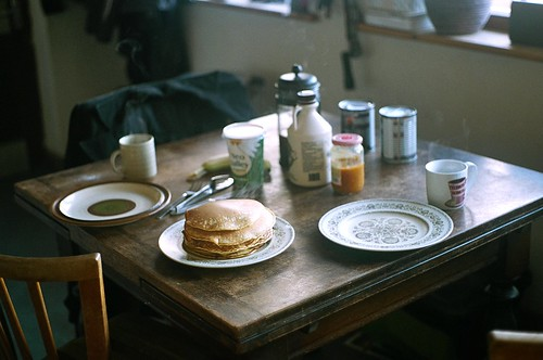 pancake breakfast. english countryside.
