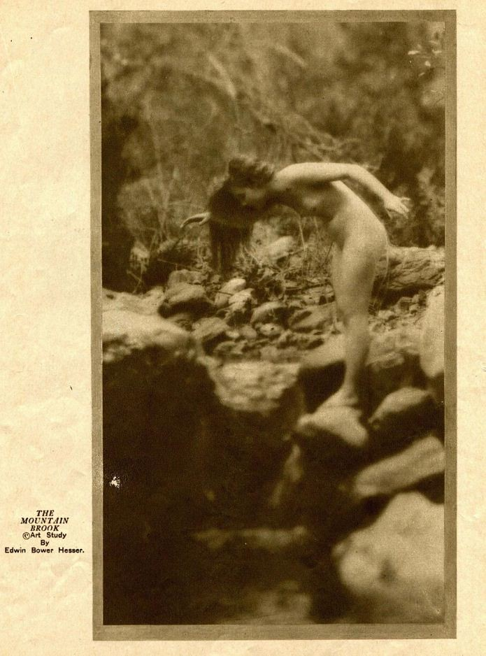 Nude 1922 The Mountain Brook By Edwin Bower Hesser Flickr
