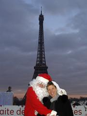 Lisa with Santa Claus