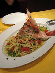 linguine with longtailed red snapper and cherry tomato sauce