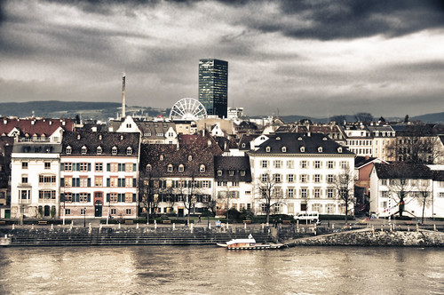 Basel Panorama im Winter