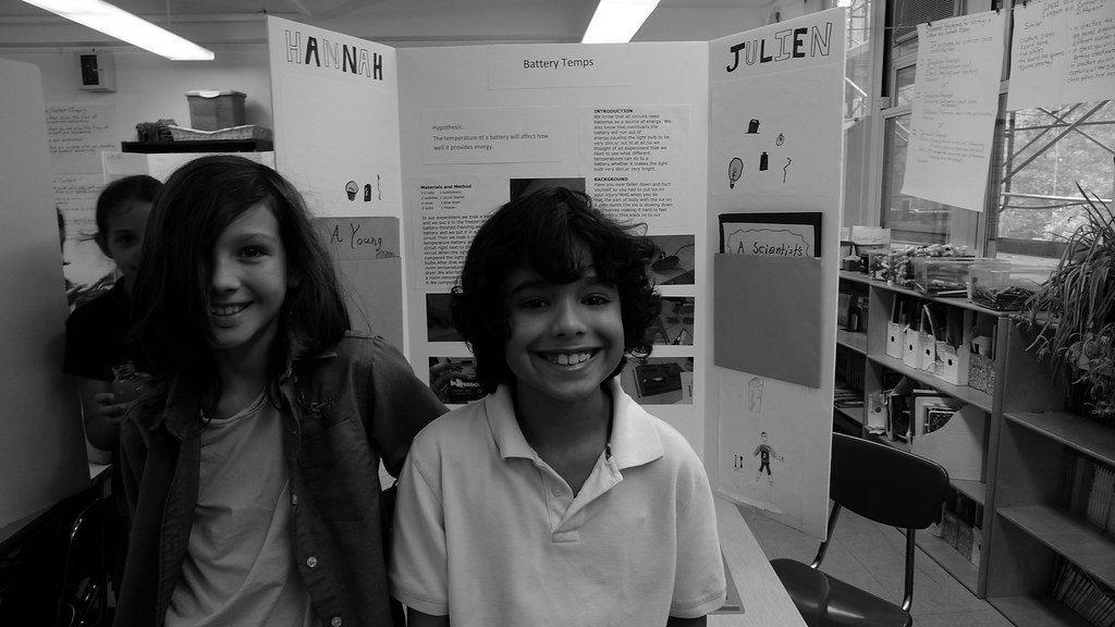 Lucas at Science Fair