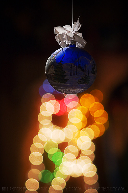 Christmas Eve Globe Lights Ornament by Bill Anders Photography